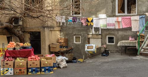 Obraz na plátně Yerevan courtyard