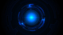 Technology Dark Blue Background With Hi Tech Digital Data Connection