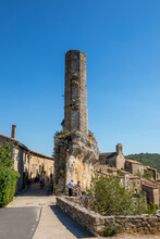 La Candela In The French Village Of Minerve Is An Octagonal Tower, A Remnant Of A Dungeon From The 13th Century.