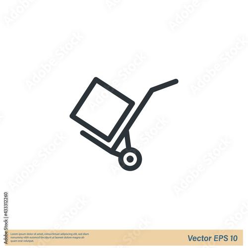 Fotografia, Obraz handcart cargo Icon Vector illustration simple design element