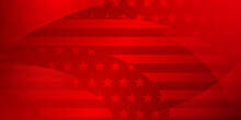 USA Independence Day Abstract Background With Elements Of American Flag In Red Colors