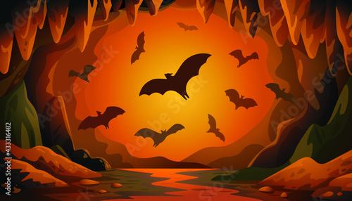Canvastavla Cave With Bats Sunset