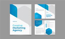 Bifold Corporate Brochure Template Design With Business Idea Layout