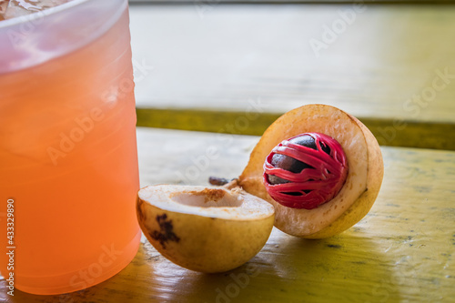 Fotografie, Obraz Nutmeg fruit seed and mace
