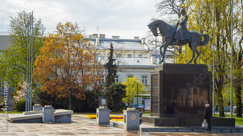 Fototapeta Pomnik Józefa Piłsudskiego w Lublinie  obraz