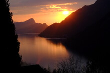 A View Of The Lucern Lake. Enf Of April 2021, Seelisberg, Switzerland.