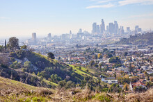 Skyline Of Downtown Los Angeles California From Hills Of East LA