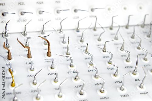 Fototapeta Dental equipment, scalers and attachments