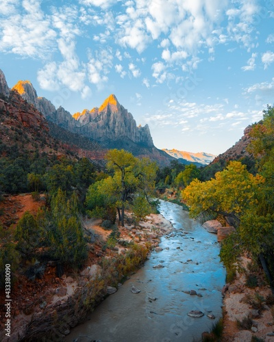 Moutains river Beauty nature