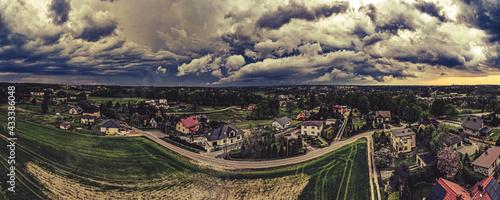 Canvas chmury burzowe nad Górnym Śląskiem, Jastrzębie Zdrój