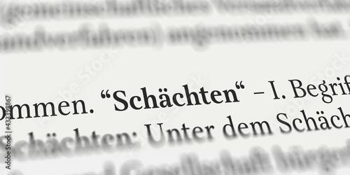Fototapeta Schächten im Buch