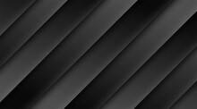 Luxury Abstract Background With Dark Lines Template Deluxe Design. Modern Black Backdrop Concept 3d Style Illustration Vector