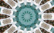 Kaleidoscope In Grey And Turquoise