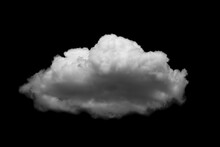Separate White Clouds On A Black Background Have Real Clouds.