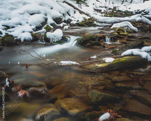 Zimowe kaskady - fototapety na wymiar