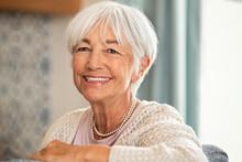 Portrait Of Smiling Beautiful Senior Woman