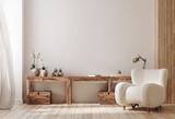 Cozy farmhouse living room interior, 3d render - 433438265