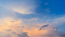 Beautiful Sky With Cloud Before Sunset,sky With Clouds And Sun