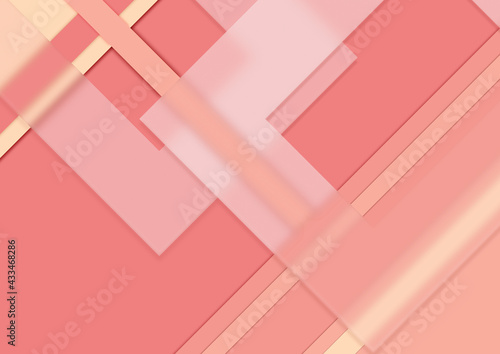 Abstrakcyjne kolorowe tło - geometryczne kształty z efektem szkła. Szablon z miejscem na Twój tekst, produkt, tapeta, ilustracja dla social media story, internetowe projekty, aplikacje mobilne. - fototapety na wymiar