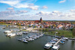 Marina und Stadt Ribnitz-Damgarten auf dem Darss