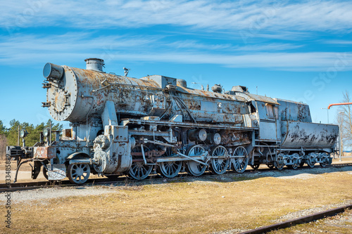Obraz na plátně Old steam train. Haapsalu, Estonia