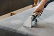 Leinwandbild Motiv Professional cleaning service deep cleaning sofa at home.