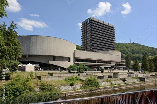 Obraz na płótnie Hotel Thermal in Karlovy Vary in the Czech Republic.