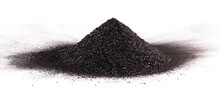 Pile Of Coal Dust Isolated On White Background