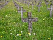 Stone Crosses  In A Military Cemetery  , Graves Of Unknown Soldiers