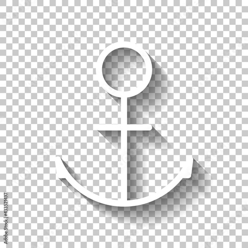 Anchor of the boat, simple icon Fototapet
