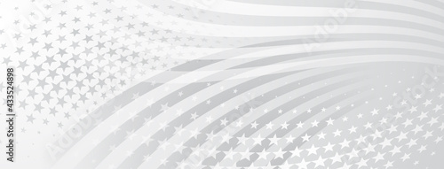 Fotografía USA independence day abstract background with elements of american flag in gray