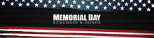 Memorial Day, Remember And Honor, Posters, Modern Design Vector Illustration