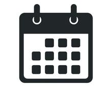 Calendar Icon, Vector Illustration. Flat Design Style. Vector Calendar Icon Illustration Isolated On White Background, Calendar Icon Eps 10. Calendar Icons Graphic Design Vector Symbols.