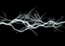 暗闇を照らす抽象的な稲妻