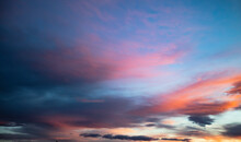 Beautiful Colorful Sunset Clouds In The Summer