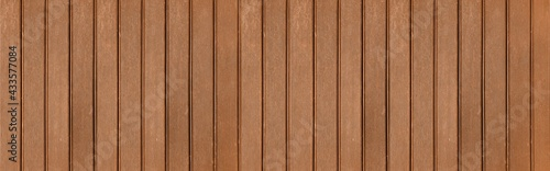 Vászonkép Panorama of Brown solid wood flooring for outdoor floors texture and background
