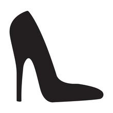 Elegant Womens High Heel Shoe Icon Vector Isolated On White Background For Graphic Design, Logo, Web Site, Social Media, Mobile App, Ui Illustration