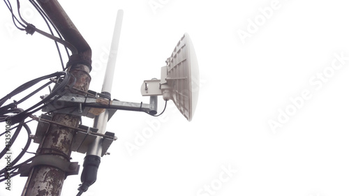 Canvastavla signal antenna for internet broadcast isolated on white background