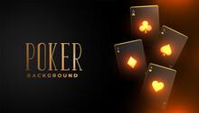 Glowing Casino Playing Card Background