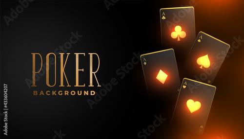 Cuadros en Lienzo glowing casino playing card background