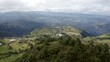 Aerial view of majestic Andes mountain scape in Ecuador