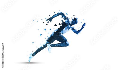 corsa, correre, competizione, sport, poligonale - fototapety na wymiar