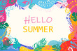 Vector poster on a summer theme with a place for the text.