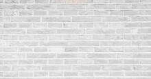 Close-up View Of White And Grey Brick Wall, Backgrounds And Urban Concepts