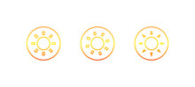 Sun Icon . Vector Illustration.