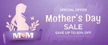 Mothers Day Sale Silhouette Pregnant Woman