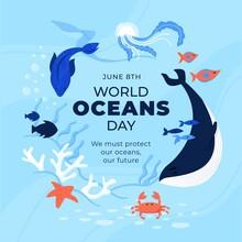 Hand Drawn World Oceans Day Illustration_2