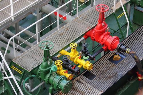 Canvas bunker fuel valves