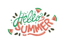 Hand Drawn Hello Summer Illustration_4