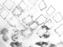 Motif Ikat. White Ikat Textures. Ethnic Style